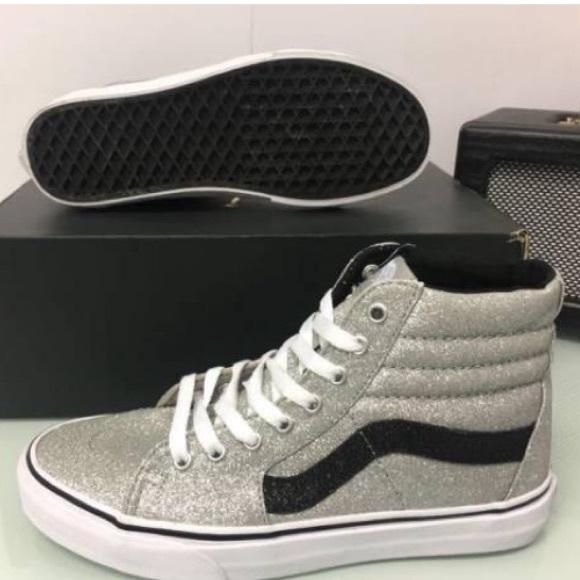 Vans Sk8 Hi Sparkle Glitter Skate Shoes